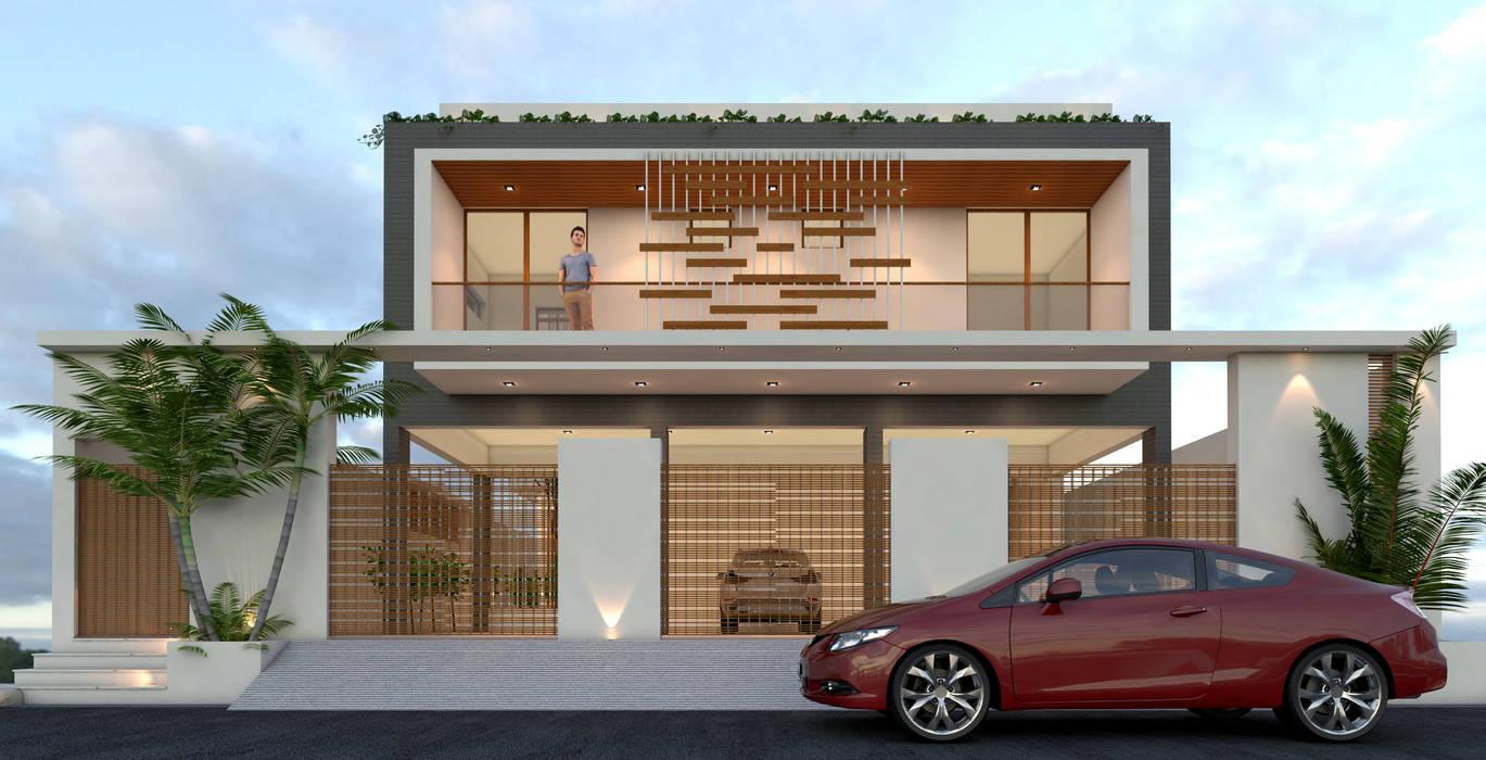 Casas de estilo minimalista de Ravi Prakash Architect Minimalista Concreto reforzado