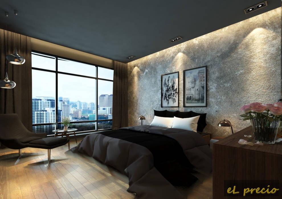 PROPOSED INTERIOR DESIGN FOR BANJARIA COURT APARTMENT AT BATU CAVES, SELANGOR Tropical style bedroom by eL precio Tropical