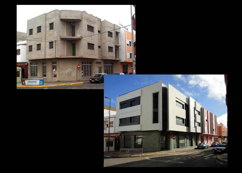 Vivienda Colectiva en Puerto del Rosario -Reformado de proyecto y finalización de obra. Casas de estilo moderno de HA2 ARQUITECTOS Moderno