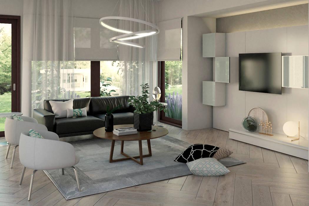 Family Room Salas de estilo moderno de Gabriela Afonso Moderno