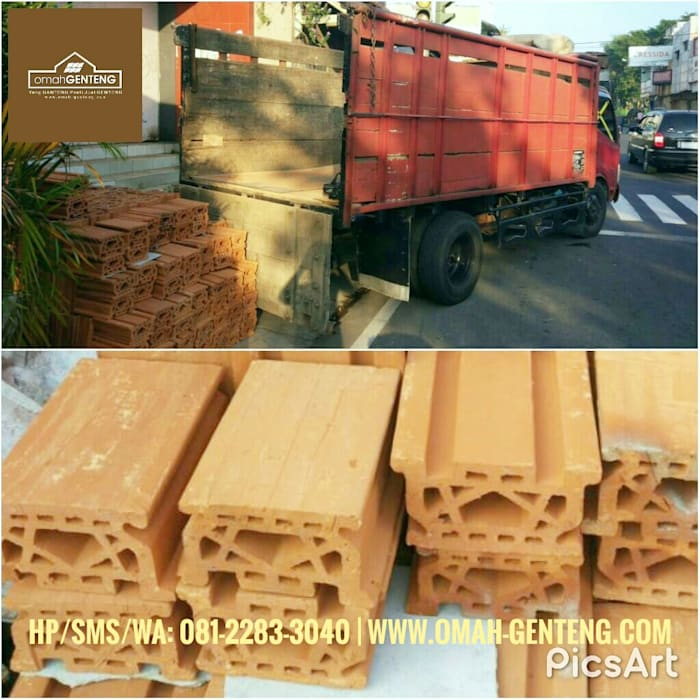 Dak Keraton Ceiling Brick - HP/WA: 08122833040 - Omah Genteng Omah Genteng Lantai Batu Bata Brown