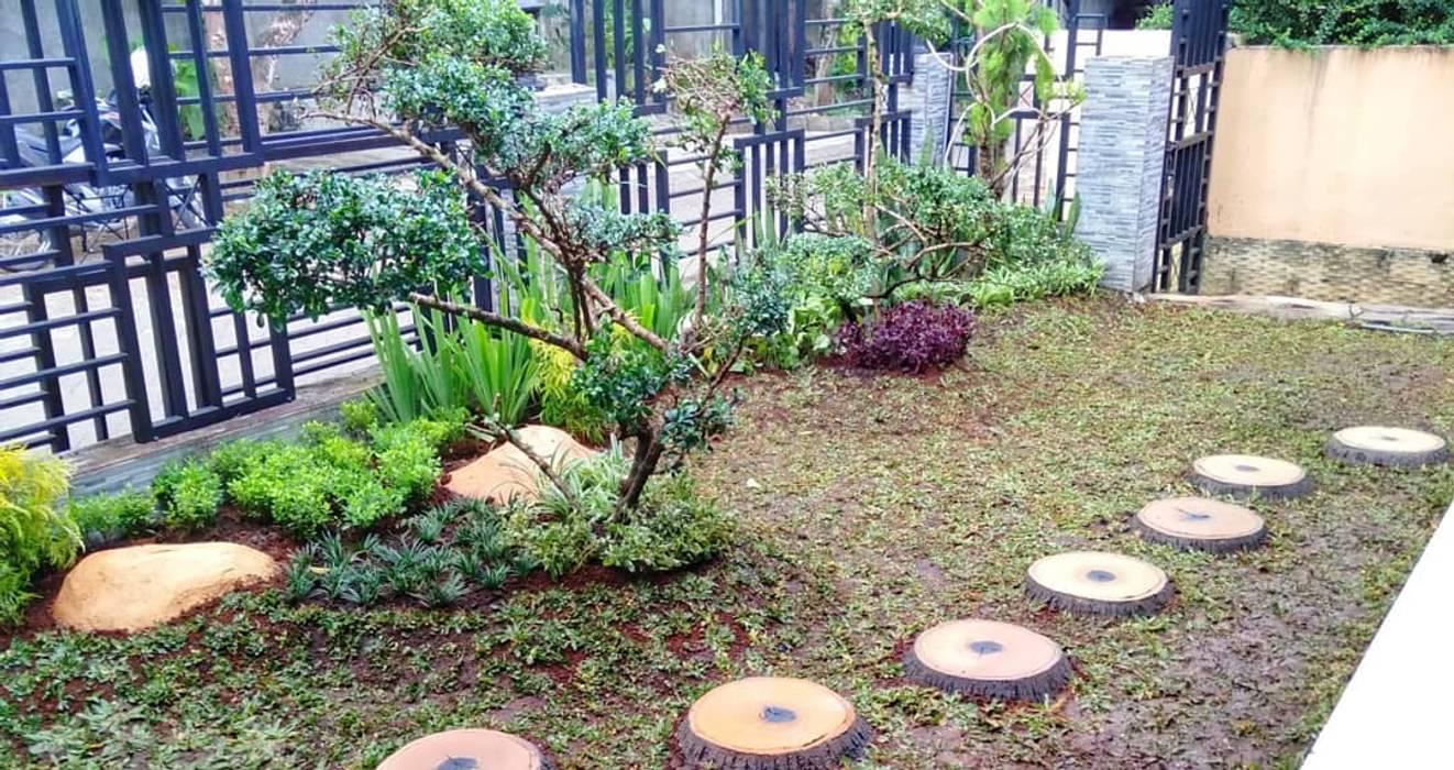 Tukang taman jasa pembutan taman professional Kantor & Toko Gaya Asia Oleh Nuansa Taman Baru Asia OSB