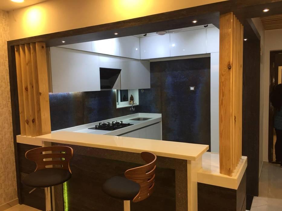 Open kitchen by VR Interior Designerss Asian Glass