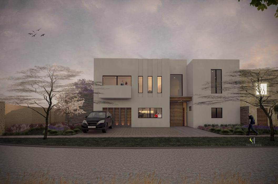 Fachada principal Casas estilo moderno: ideas, arquitectura e imágenes de Helicoide Estudio de Arquitectura Moderno