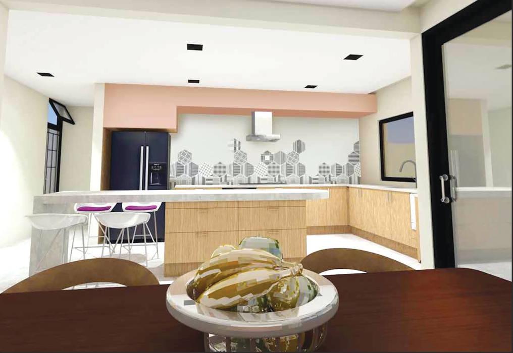Casa Bugambilia Cocinas modernas de Marquira Moderno