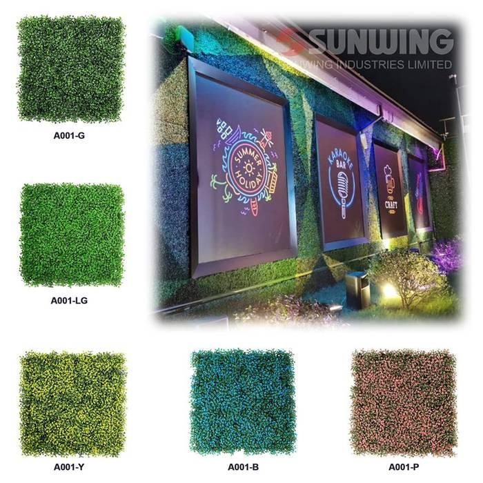 Artificial Hedges for Outdoor Green Wall Ruang Komersial Tropis Oleh Sunwing Industries Ltd Tropis Plastik