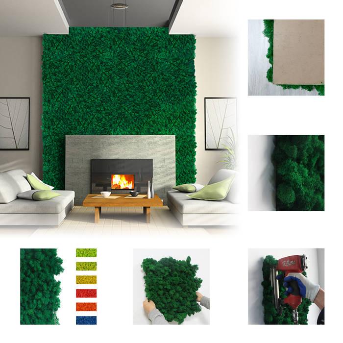 Preserved Reindeer Moss for Interior Wall Ruang Komersial Tropis Oleh Sunwing Industries Ltd Tropis Plastik