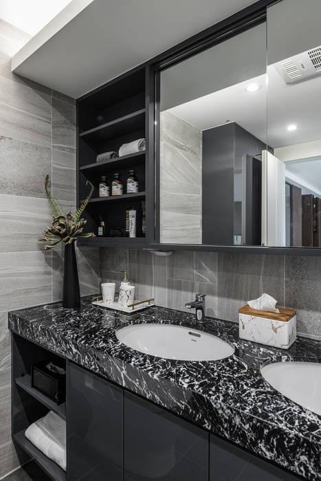 主臥浴室 你你空間設計 Modern bathroom Marble