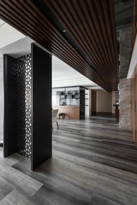 走道 你你空間設計 Modern Corridor, Hallway and Staircase