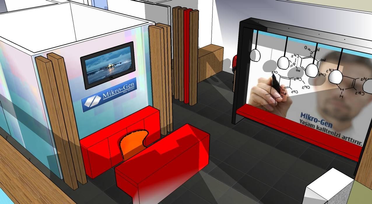 de SERPİCİ's Mimarlık ve İç Mimarlık Architecture and INTERIOR DESIGN Rústico Compuestos de madera y plástico