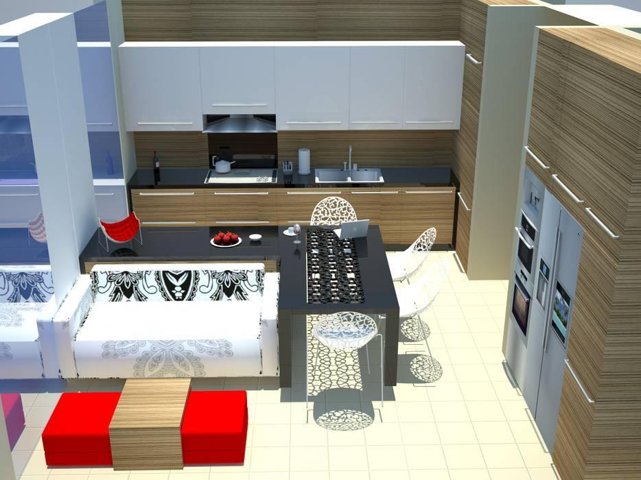 by SERPİCİ's Mimarlık ve İç Mimarlık Architecture and INTERIOR DESIGN Minimalist Wood-Plastic Composite