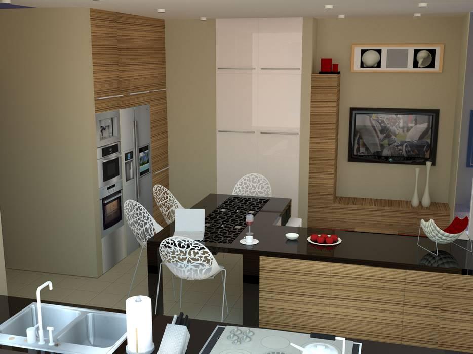 Salle à manger minimaliste par SERPİCİ's Mimarlık ve İç Mimarlık Architecture and INTERIOR DESIGN Minimaliste Bois composite
