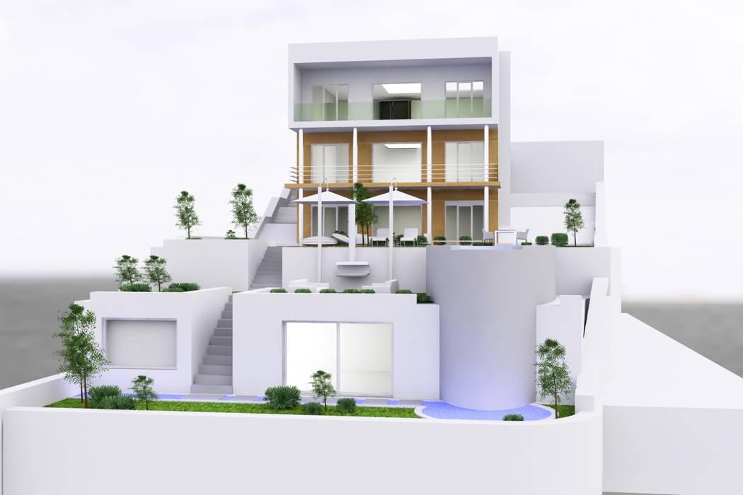 Rumah Modern Oleh SERPİCİ's Mimarlık ve İç Mimarlık Architecture and INTERIOR DESIGN Modern Beton