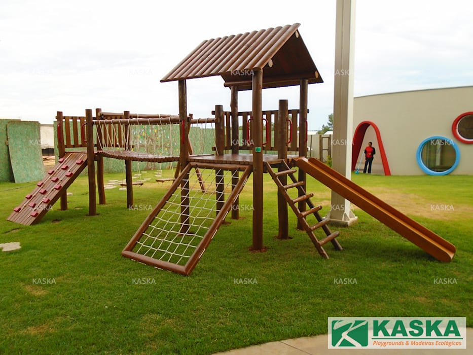 by Kaska Playgrounds Rustic Wood Wood effect
