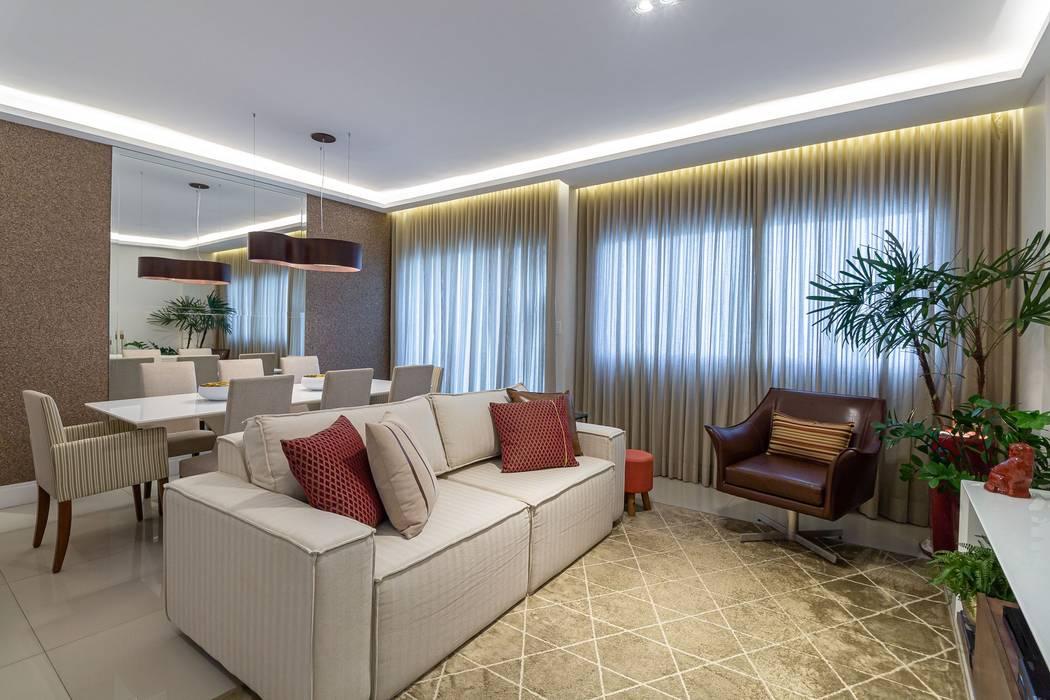 Modern living room by Milla Holtz & Bruno Sgrillo Arquitetura Modern