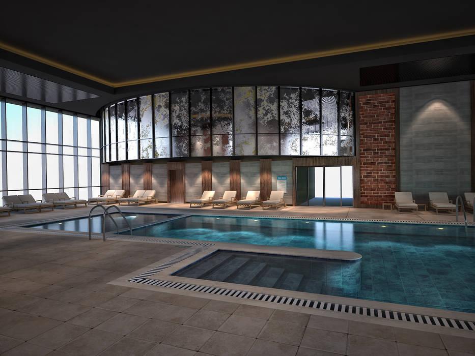 Dubai Otel Yüzme Havuzu Klasik Havuz 3d Antalya Klasik