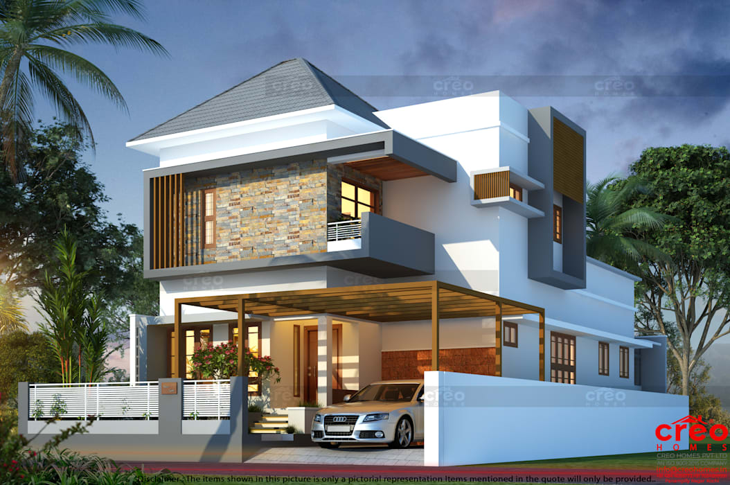 Home Architects Ernakulam Asian style houses by Creo Homes Pvt Ltd Asian