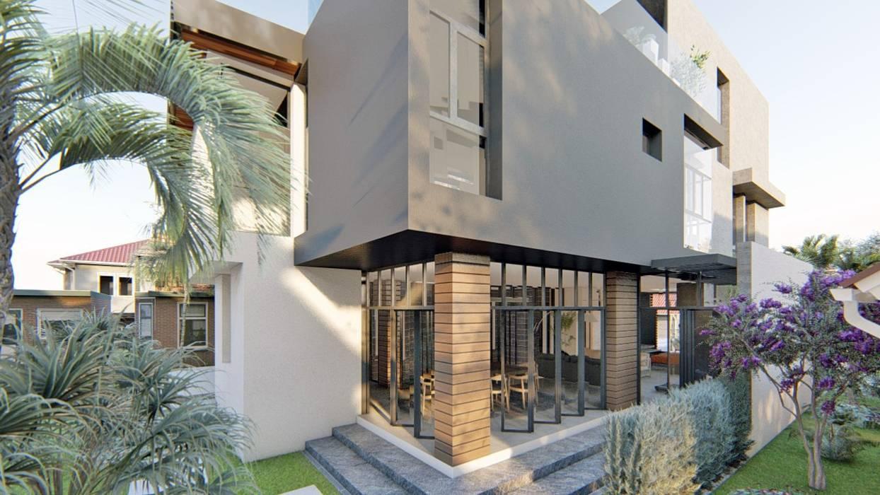 Rear Garden Modern home by Structura Architects Modern Concrete