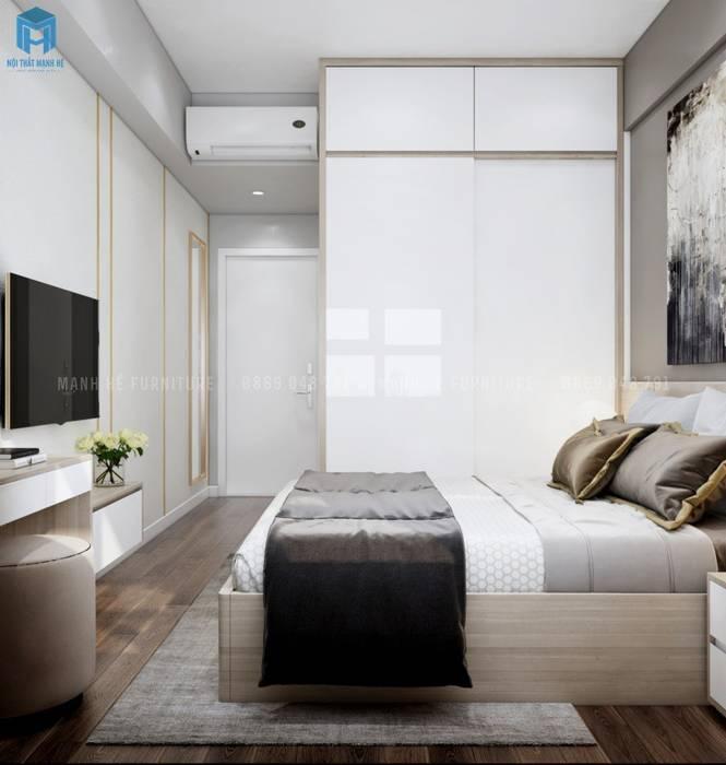 Phòng ngủ master Phòng ngủ phong cách Địa Trung Hải bởi Công ty TNHH Nội Thất Mạnh Hệ Địa Trung Hải
