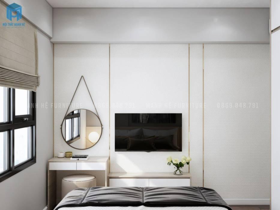 Kệ tivi và bàn trang điểm sang trọng Phòng ngủ phong cách Địa Trung Hải bởi Công ty TNHH Nội Thất Mạnh Hệ Địa Trung Hải