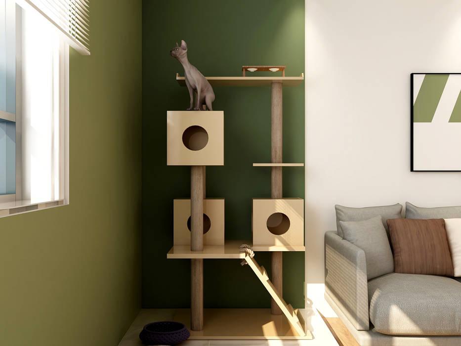 Salon moderne par Coohom Moderne