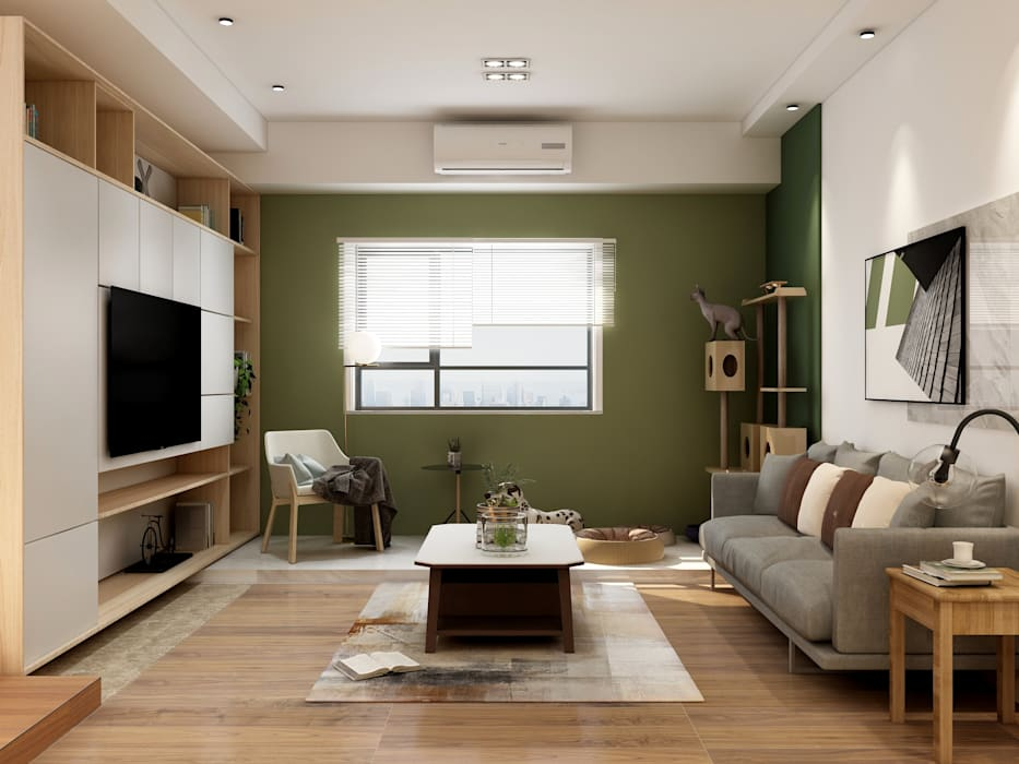 Small Space Modern Living Room by Coohom Modern