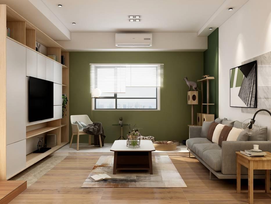 Salon minimaliste par Coohom Minimaliste