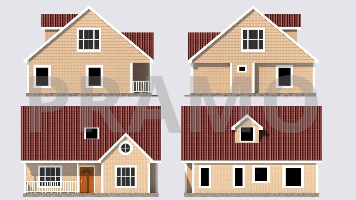 Balcon, Veranda & Terrasse modernes par PRAMO PREFABRİCATED & STEEL Moderne OSB