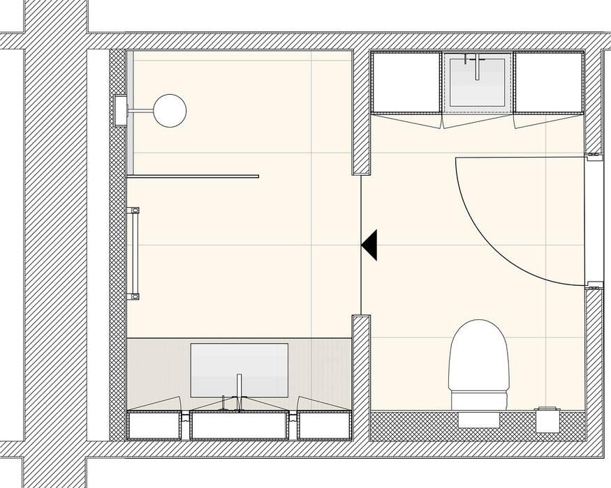 Grundriss moderne badezimmer von dielen innenarchitekten ...
