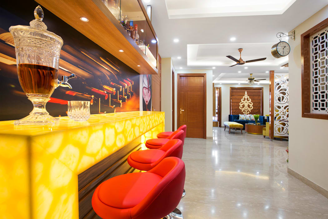 A Vibrant Delhi Home : modern  by Orizzonte Interiors Private Limited,Modern