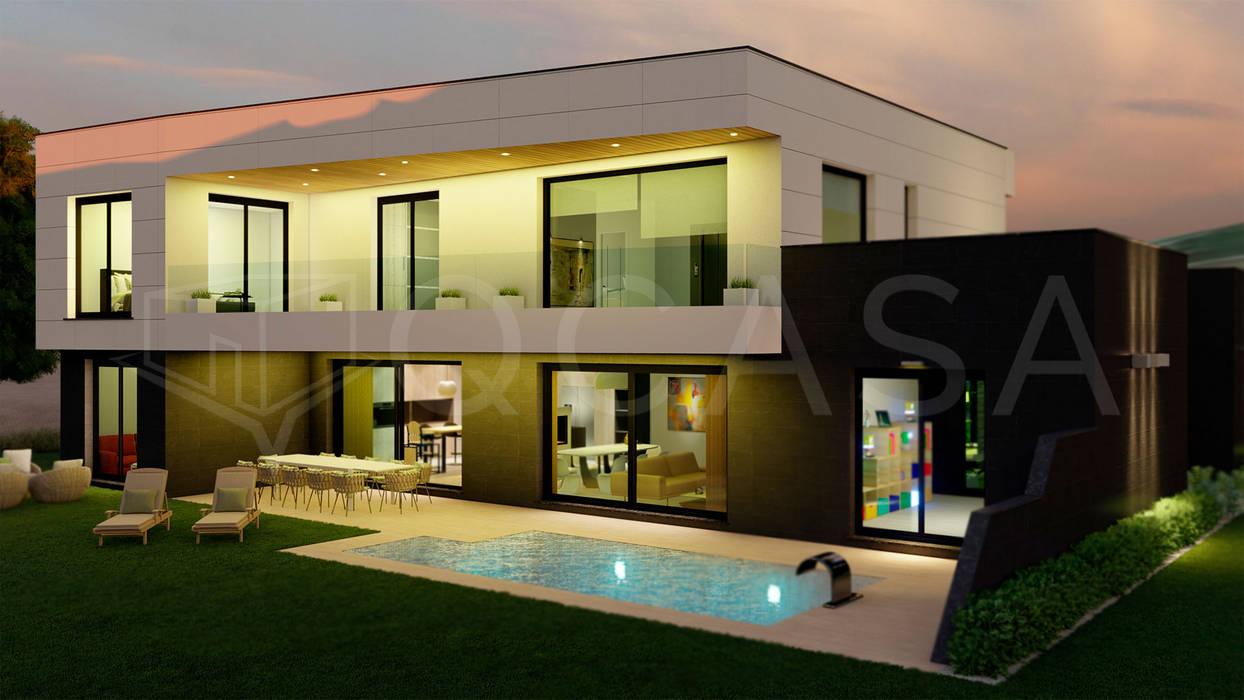 von QCASA.Madrid. Viviendas industrializadas eficientes de hormigón Modern Beton