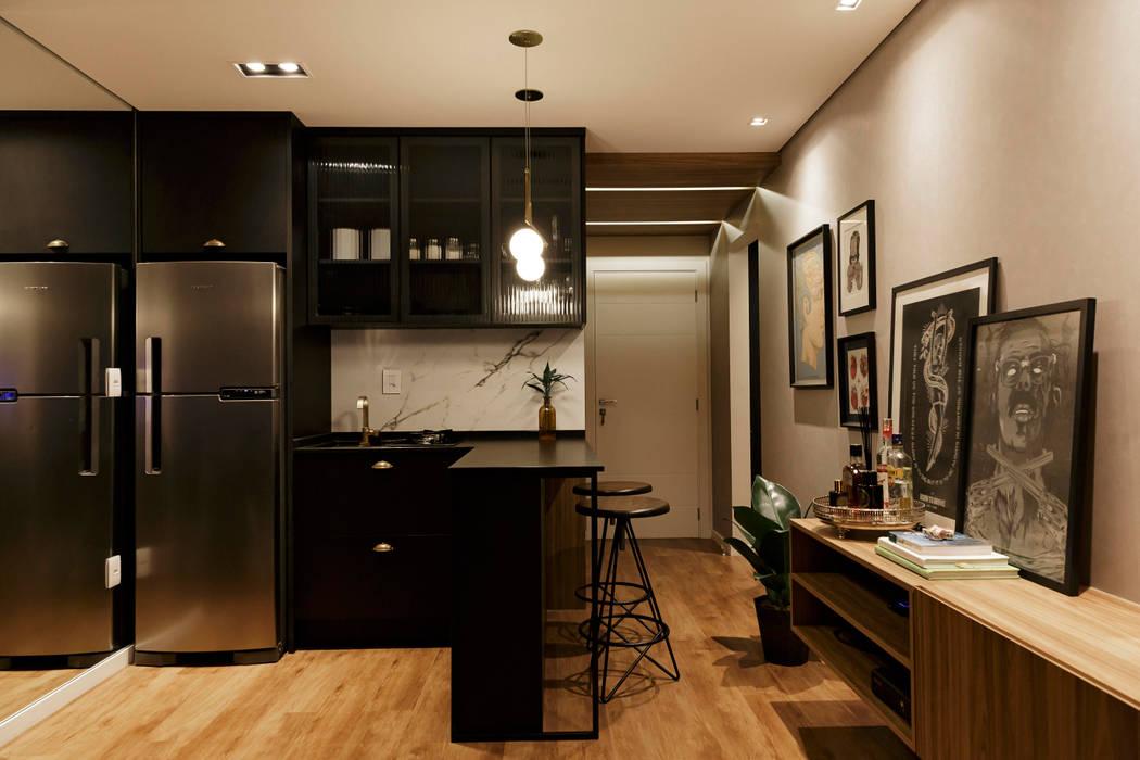 Cozinha integrada Cozinhas escandinavas por Plurale Arquitetura Escandinavo