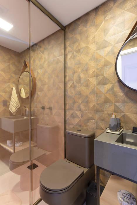 Banheiro Social- Apto BAY301 Cassiana Rubin Arquitetura Banheiros industriais