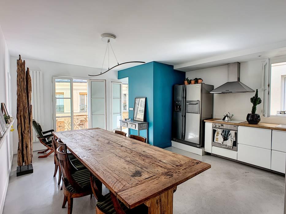 Salle à manger / cuisine Salle à manger moderne par A comme Archi Moderne