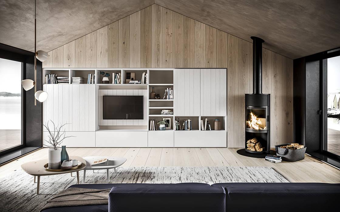 Pareti per soggiorno come vuoi tu soggiorno moderno di ...