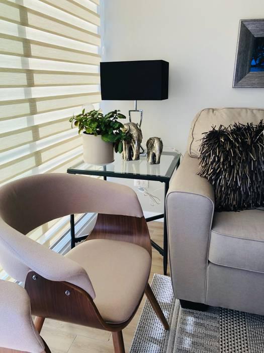 Mesas laterales Livings de estilo moderno de Oscar Saavedra Diseño y Decoración Spa Moderno