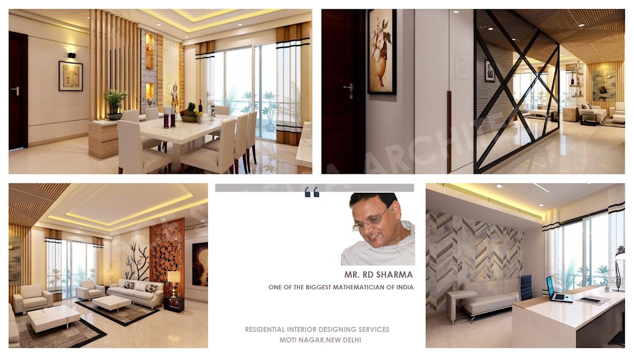 Mr. R.D. Sharma Ji Residence Modern dining room by SPACE SHASTRA ARCHITECTS Modern