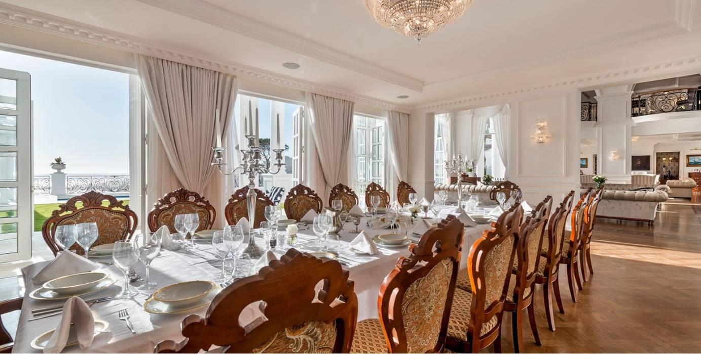 WHİTE PALACE Akdeniz Yemek Odası Inan AYDOGAN /IA Interior Design Office Akdeniz Ahşap Ahşap rengi