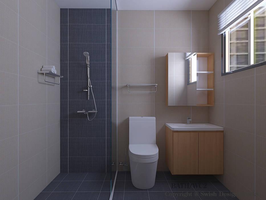 Bathroom Minimalist style bathroom by Swish Design Works Minimalist Tiles