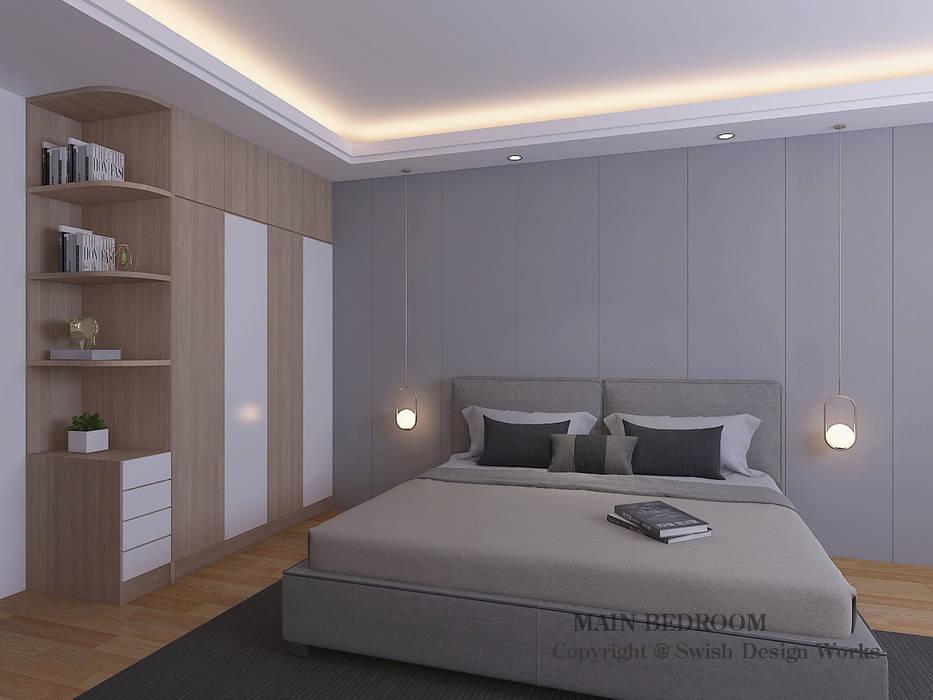 Master bedroom option 2 by Swish Design Works Minimalist Plywood