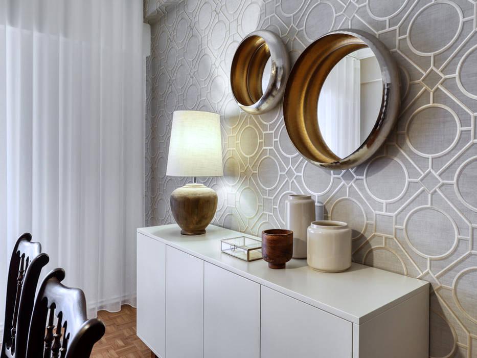 Mediterranean style dining room by maria inês home style Mediterranean