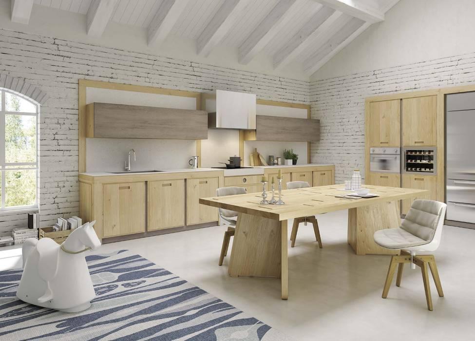 Dapur Modern Oleh Mobili a Colori Modern Parket Multicolored