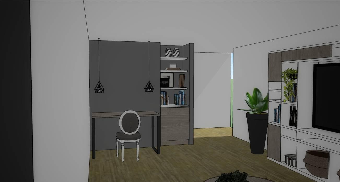 Mueble escritorio de Azohia Design - Diseño y Decoracion Maria Alejandra Bucher EIRL Moderno