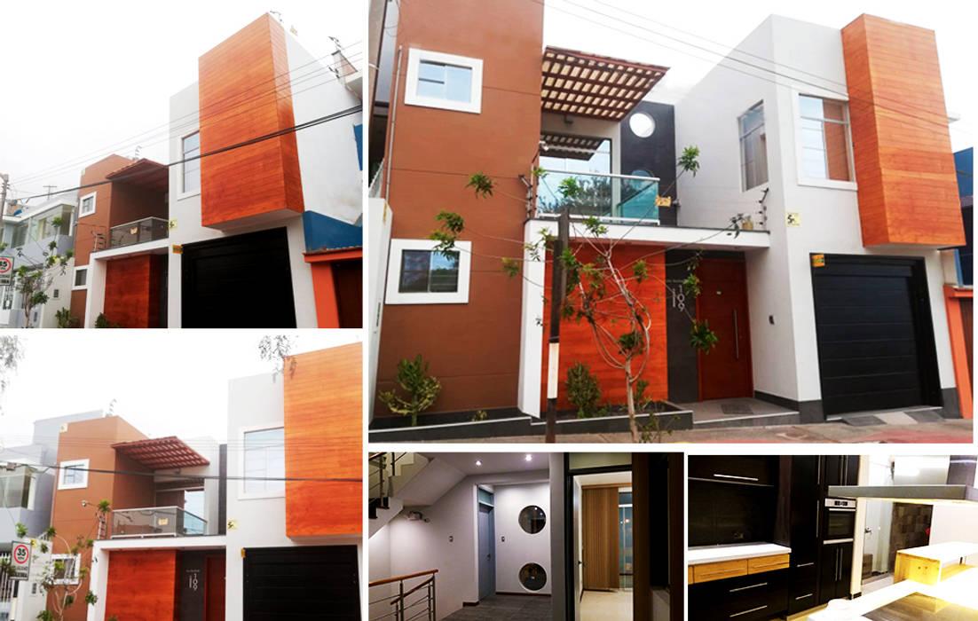 Residencia Ilo de Diseño Integral y Construcción S.A.C. Moderno Concreto