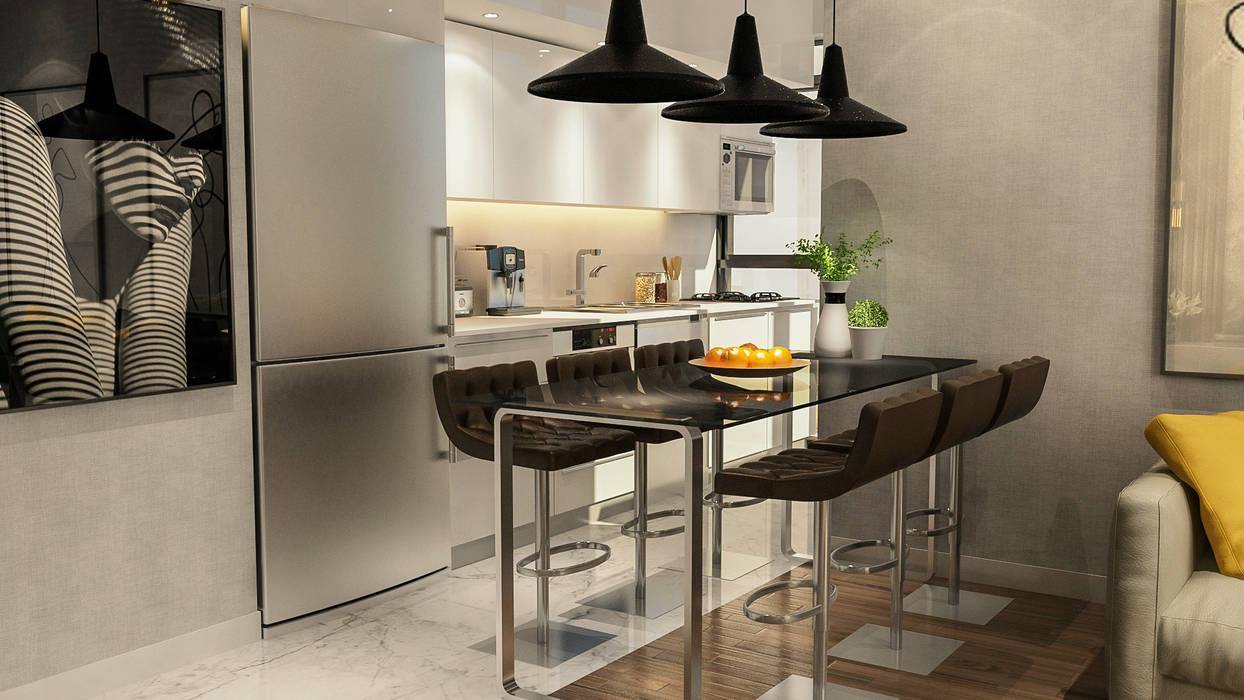 Cocinas de estilo moderno de ARTERA İÇ MİMARLIK VE MİMARLIK Moderno