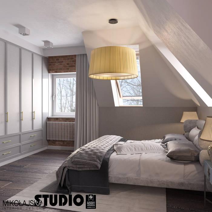 Sypialnia Nowoczesna sypialnia od MIKOŁAJSKAstudio Nowoczesny