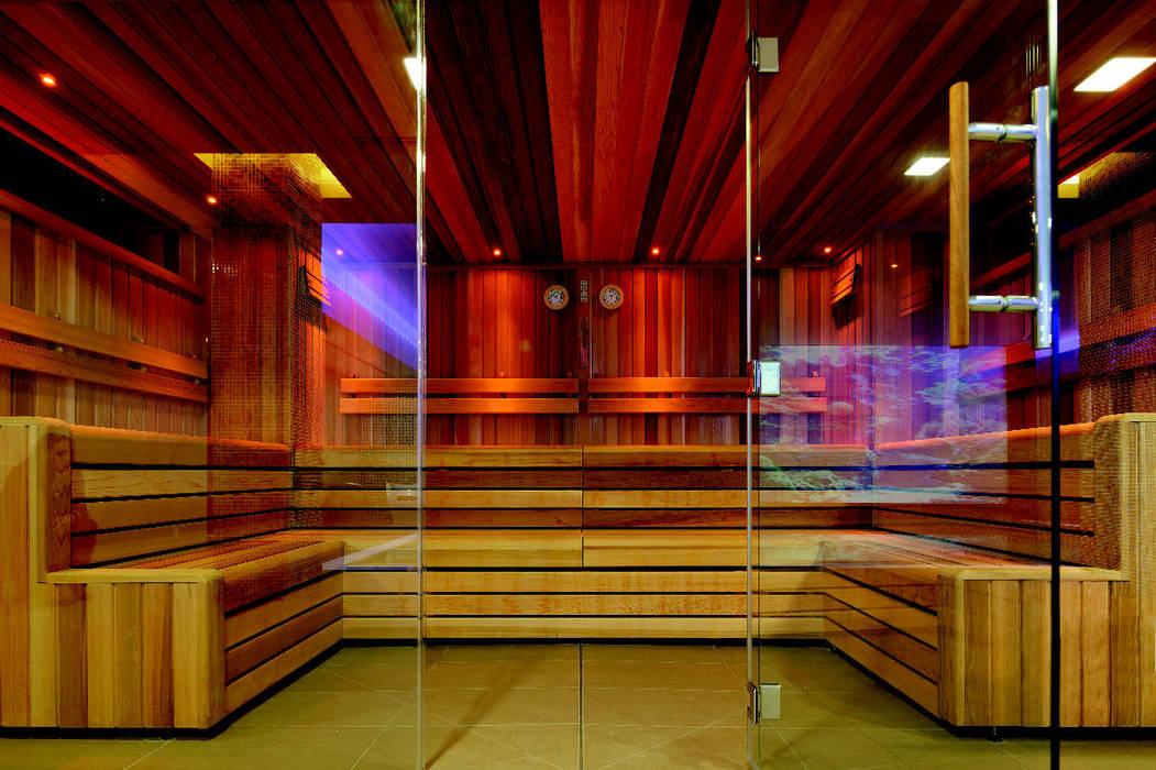 Frameless glass sauna Minimalistyczne spa od Ion Glass Minimalistyczny Szkło