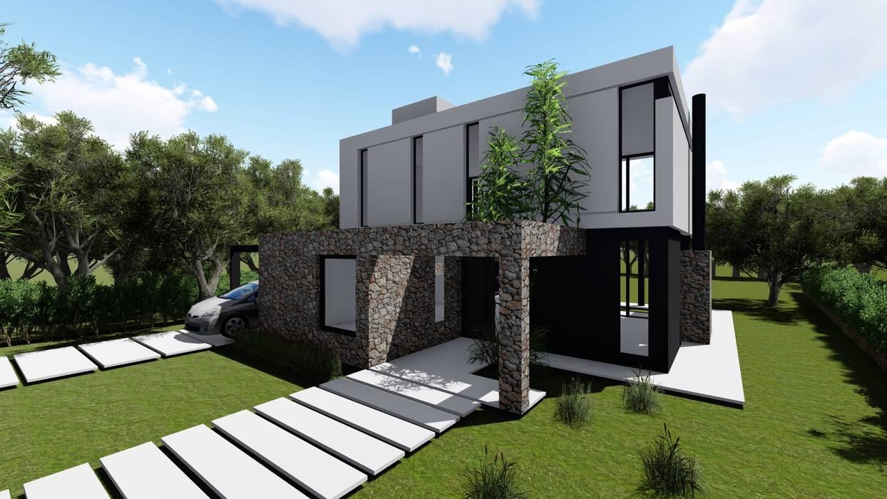 Casa sustentable en el Tigre Casas de estilo minimalista de Arq. German Vazquez Minimalista