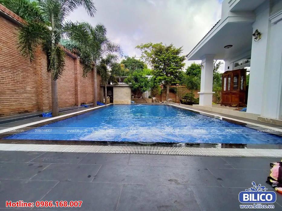 Công trình bể bơi anh Hưng - Sài Gòn - Bilico Thiết bị bể bơi Bilico Hồ bơi phong cách châu Á