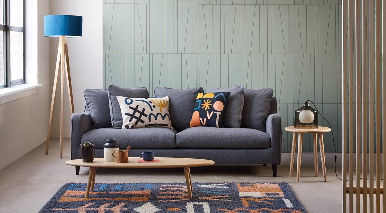 Papel tapiz Salas modernas de Tullpu Diseño & Arquitectura Moderno